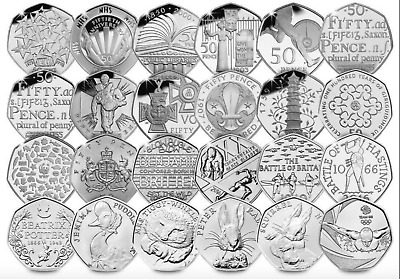 All 50p Coin Fifty Pence Coins Kew Gardens Jemima Olympics Peter Rabbit NHS WWF  • 4.49£