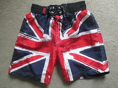 Boys Union Jack Swim Shorts Age 4 - 5 • 2.50£