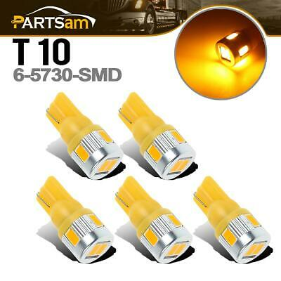 $15.89 • Buy For Universal Cab Roof Running Lights W5W 161 194 Amber 6-5730-SMD LED Bulbs X5