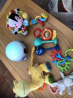 Baby Toy Bundle Sensory, Rattles, Teethers(musical Night Light Show & More • 12£