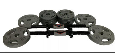 $ CDN68.06 • Buy New 1  Weight Plates - 2.5 5 10 25 LB Pairs(Choose Weight) 14  Dumbbell Handles
