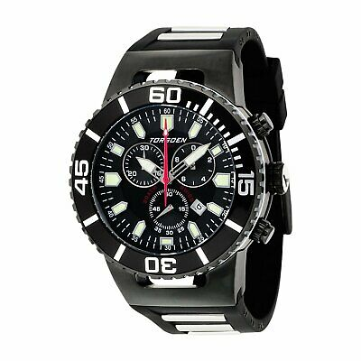 Torgoen Men's Analog Quartz Watch With Black Dial And Rubber Strap - T24305 • 230£