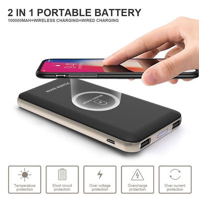 AU19.40 • Buy DIY 100000mAh Power Bank 2 In 1 Wireless Charger Case Box - Not Include Battery