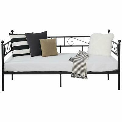 £54.90 • Buy Day Bed Metal Trundle Single Sofa Bed Black White Metal Guest Bed Frame Stylish