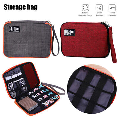 AU6.29 • Buy Electronic Accessories Storage Case USB Cable Organizer Bag Drive Travel Insert