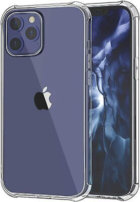 Case For IPhone 11 12 Pro Max Mini 7 8 SE XR X XS Clear Shockproof Phone Cover • 2.95£