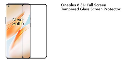 AU5.59 • Buy Tempered Glass Screen Protector For OnePlus 7 7T 8 Pro 3D Curved