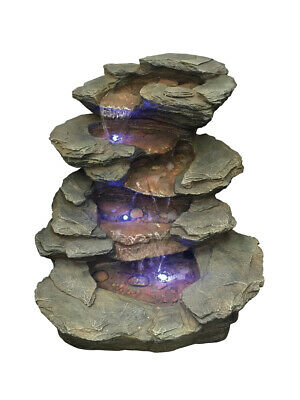 Seattle Slate Falls River Water Feature With LED Lights By Aqua Creations • 238.98£