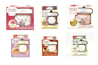 Yankee Candle Car Refillable Fragrance Locket Charming Scent &Refill Gift Set • 7£