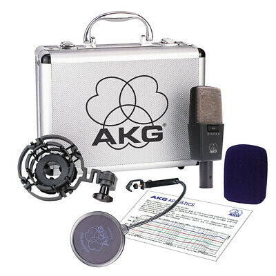 £658.50 • Buy AKG C414-XLS Condenser Microphone With Shockmount, Pop & Carrying Case