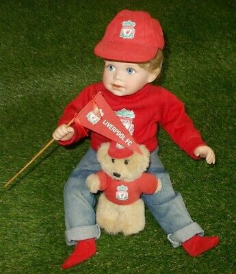 £60 • Buy Liverpool LFC 'Kenny' Danbury Mint Littlest Supporter Porcelain Collector Doll