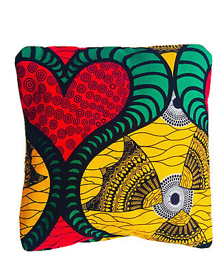 African Print Envelope Cushion Covers X3 • 10.99£