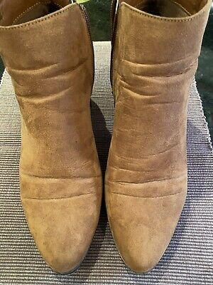 Red Herring Tan Ankle Boots Size 7/40 • 14.99£