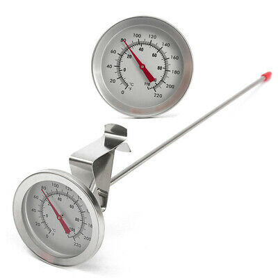 12  Stainless Steel Dial Thermometer Probe Kettle Temperature Meas Wine Beer. • 7.71£
