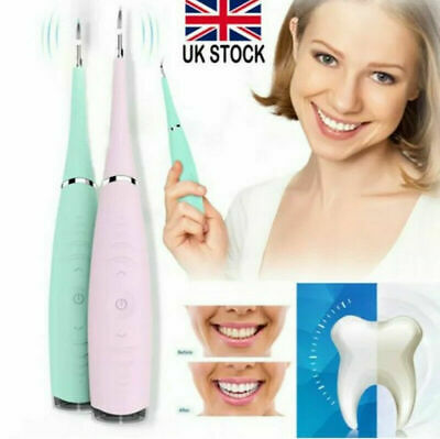Electric Sonic Dental Scaler Plaque Tartar Calculus Remover Tooth Stains  • 7.39£