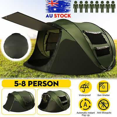 AU109.98 • Buy 3-4/5-8 Person Waterproof Camping Tent Quick Open Shade Family Outdoor Hiking AU
