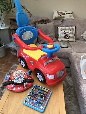 Baby/toddler Toy Bundle (ride On Car With Push Along Handle,paw Patrol Driver ) • 25£