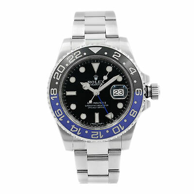 $ CDN21384.26 • Buy Rolex GMT-Master II Batman Steel Ceramic Black Dial Mens Watch 116710BLNR