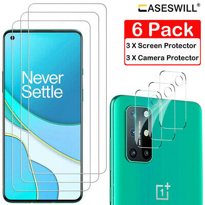 AU6.77 • Buy For OnePlus 8T / 8T+ Plus 5G Caseswill HD-Clear Tempered Glass Screen Protector