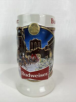 "$ CDN45.38 • Buy 2020 Budweiser Holiday Stein Beer Mug 41st Anniversary Edition ""Brewery Lights"""