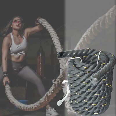 AU89.99 • Buy Battle Rope 3.8CM 9M Home Gym Equipment Strength Abs Training Exercise Fitness