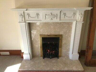 Georgian Style Fire Place Surround And Gas Coal Effect Fire • 99£