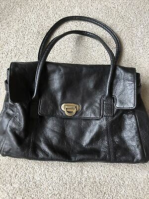 Marks & Spencer M&s Autograph Black Leather Tote Bag Handbag Shoulder Bag Bnwot • 5.80£