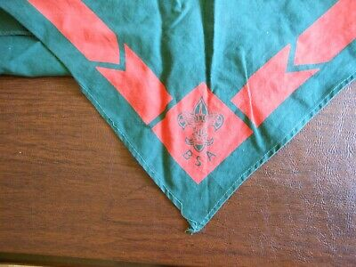 Vintage (1960's) Boy Scout Neckerchief - Green & Orange • 11.01£