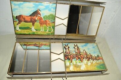$ CDN627.66 • Buy RARE Vintage 1950s BUDWEISER Lighted CLYDESDALE Metal/Glass BEER SIGNS