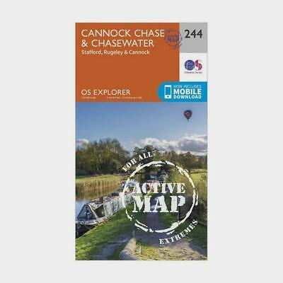 New OS Explorer Active 244 Cannock Chase & Chasewater Map • 18.95£