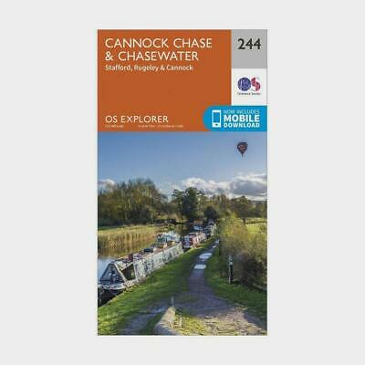 New OS Explorer 244 Cannock Chase & Chasewater Map • 12.95£