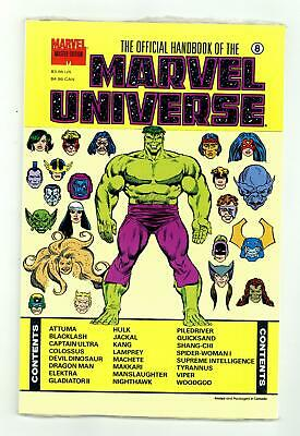 $15.50 • Buy Official Handbook Of The Marvel Universe Master Edition #8 NM- 9.2 1991