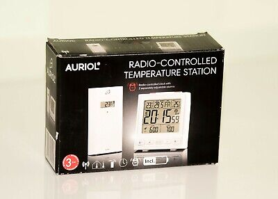 Radio-Controlled Outside And Inside Weather Station   Auriol  White • 13.49£