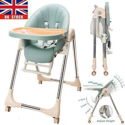 Baby Foldable High Chair Recline Feeding Highchair Adjustable Seat Table 5 In 1 • 66.96£