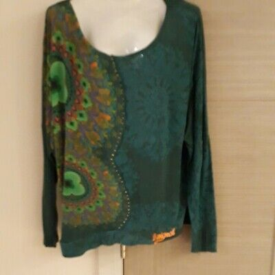 Stunning Desigual Long-sleeved Top, Size L • 4.99£