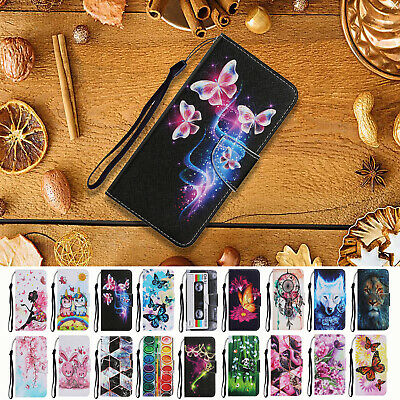 AU18.99 • Buy For IPhone 12Mini 12Pro 11 Max XR 7 8Plus Painted Flip Leather Wallet Cover Case