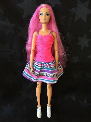 Barbie OOAK Hybrid - Hairtastic Pink Long Hair Doll Head On A Made To Move Body • 21.99£
