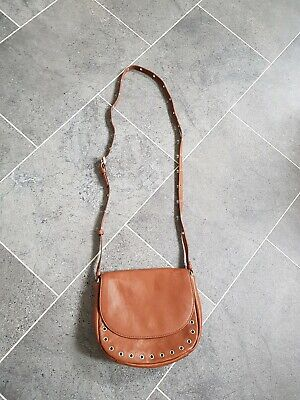 M&S Faux Leather Cross Body Bag With Adjustable Strap Tan   • 3£