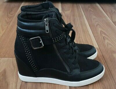 AU53 • Buy Forever New Size 38 Black Zip Lace Up Bootie