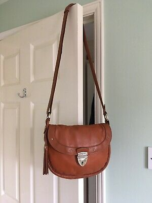 Aspinal Of London Tan Saddle Bag Crossbody Shoulder Leather • 12.50£