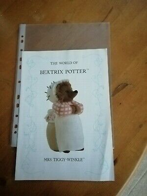 Beatrix Potter Knitting Pattern. Mrs Tiggy Winkle - By Alan Dart • 24£