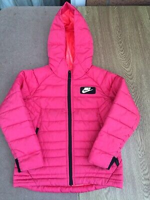 Girls Nike Puffer Jacket Pink Age 3-4  • 22£