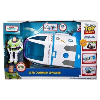 TOY STORY 4 Buzz Lightyear Star Command Spaceship Playset For Age 3 + • 69£