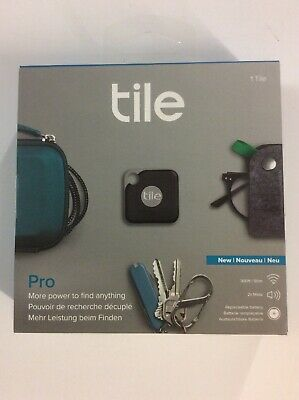 (1) Tile ~ Black Pro ~ RT-15001 ~ Model T6001B ~ Item / Key Locator • 20.63£