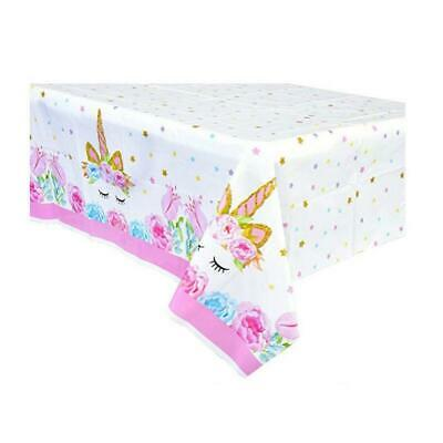 AU8.99 • Buy Unicorn Tablecloth Table Cover Party Supplies Table Decoration