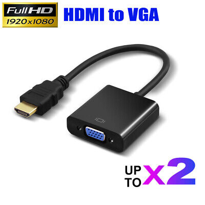 AU9.82 • Buy HDMI Male To VGA Female 1080p Adapter Video Cable Converter Chipset Built-in AU