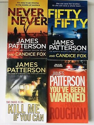 AU39.99 • Buy James Patterson LOT OF 4 BOOKS Never Never - Fifty Fifty - Crime Thriller Bulk