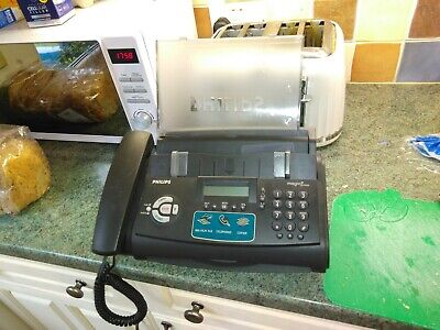 Philips Vintage Fax Machine Phone In Black Plug In Untested Post For £9 UK • 20£