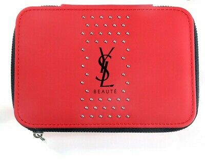 YSL Beauty Red Makeup Cosmetics Case / Bag / Box With Mirror, Brand New! • 18.11£