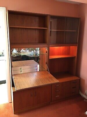G Plan Retro Teak Drinks Cocktail Cabinet & Wall Unit 1970s  • 95£